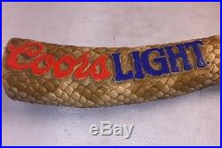 Coors Light Rattlesnake Tail Beer Tap Handle Vintage Clean Unique