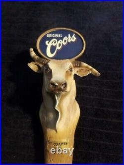 Coors bull vintage beer tap handle