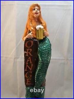 Coronado Orange Pale Ale Beer Tap Handle Non Reproduction Figural Mermaid Tap