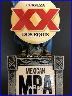 DOS EQUIS XX CERVEZA RARE Aztec Warrior MEXICAN PALE ALE Beer Tap Handle