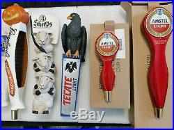 Draft Beer Keg Bar Tap Handle Lot of 9 Rare New & Used Lost Coast Redd's Leinie