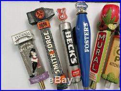 Draft Beer Keg Tap Handle Lot of 9 New Belgium McGargles Some Rare Old
