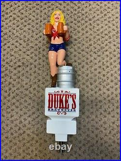 Duke's Brewhouse Brew House girl beer tap handle mint Very Rare Florida Figural