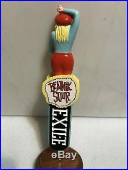 EXILE BREWING BEATNICK SOUR beer tap handle. IOWA. Figural Woman. NIB
