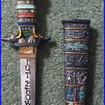 Egyptian-Themed Hilt & Sheath Beer Tap Handle -Tut Brown Ale -Very Rare