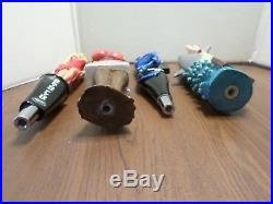 Excellent Beer Keg Tap Handle Lot of 4 Sexy Lady Shark Bait Seedy Blonde Apple