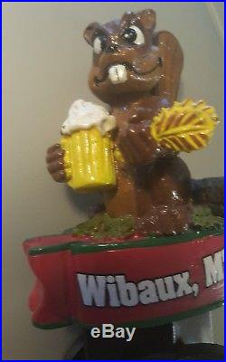 Extra Rare Beaver Creek Wibaux Montana Brew Beer Tap Handle Very Hard To Find