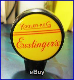 Extremely Rare Esslinger Beer Kooler Keg Ball Tap Knob Handle Phila Pa