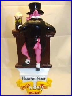 Extremely Rare HARVEST MOON BREWING Pig's Ass Porter Ale Beer Tap Handle 10