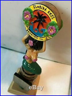 FLORIDA KEYS BREWING BLACK HAIR MERMAID beer tap handle, Islamorada, Florida