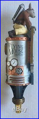 FLYING MOUSE BREWERY Beer Tap Handle Brand New in Box with Sticker Sheet