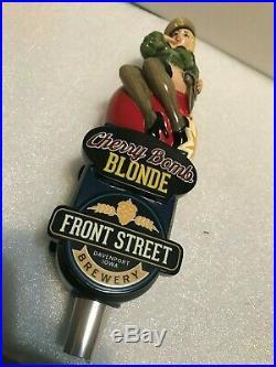 FRONT STREET BREWING CHERRY BOMB BLONDE beer tap handle. IOWA