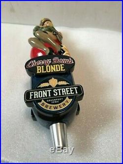 FRONT STREET CHERRY BOMB BLONDE beer tap handle. Davenport, Iowa