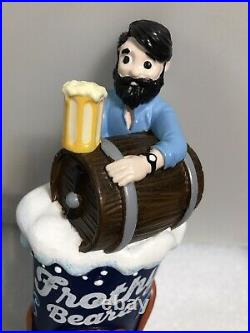 FROTHY BEARD draft beer tap handle. CALIFORNIA. ONLY ONE