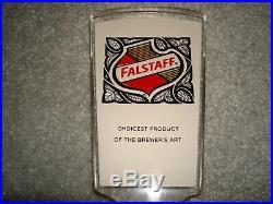 Falstaff Beer Lucite Tap Handle
