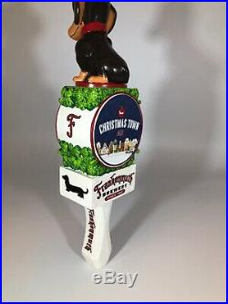 Frankenmuth Brewery Christmas Town Ale Dachshund Dog Beer Tap Handle
