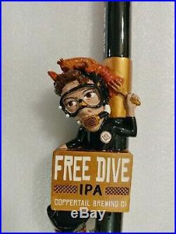 Free Dive Coppertail Brewing Diver Rare Nib 12 5 Draft Beer Keg Bar Tap Handle