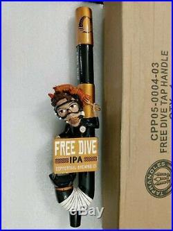 Free Dive Coppertail Brewing Diver Rare NIB 12.5 Draft Beer Keg Bar Tap Handle