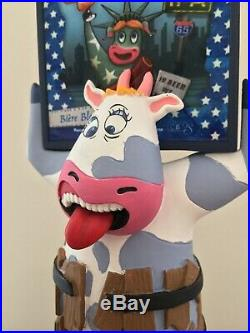French Import Brasserie De Sutter Crazy Cow IPA Beer Tap Handle French Keg Pump