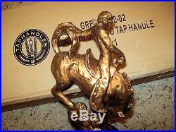 Great Northern Black Star Figural Beer Tap Handle Nib 13.5 Bucking Bronco