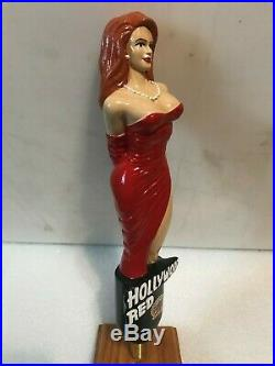 HOLLYWOOD RED model beer tap handle. California. Last one