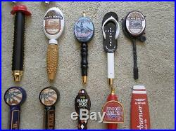 HUGE LOT OF 20! BEER TAP HANDLES SOME NEW, OTHERS USED. MISSION, BALLAST POINT +
