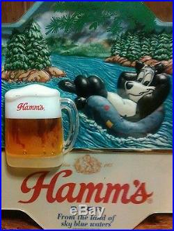 Hamms Beer Signs & Tap Handles Lot