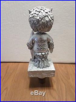 Hooters Owl Silver Double Decade 8 Draft Beer Keg Tap Handle