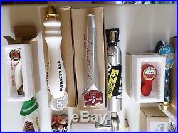 Huge Beer Keg Tap Handle Lot of 34 Mostly New Shipyard Dos Equis Heineken Miller