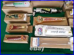Huge Beer Tap Handle Lot New Most with Box Hamm's Guinness Lost Coast Figural 32