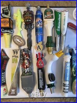 Huge Draft Beer Keg Tap Handle Lot of 25 New & Used Old Burnside Lite Abita