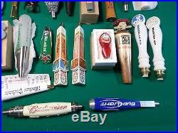 Huge Lot 38 Beer Keg Tap Handle Mostly New Lost Coast Burnside Agave Bud Light