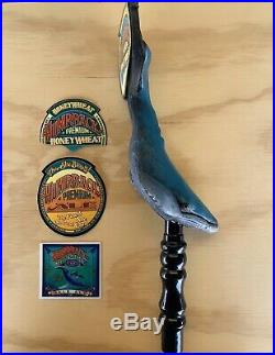 Humpback Premium Ale Whale Figural Draft Beer Tap Handle, New, RARE, Stickers