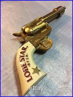 LONE STAR Beer Vintage Gun Tap Handle Texas Colt BarWare RARE