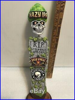 LOST COAST GRAVEYARD SERIES HAZY IPA beer tap handle. CALIFORNIA