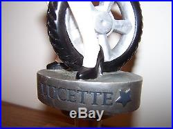 LUCETTE EASY RIDER Micro Beer Tap Bar Handle Figural Knob Harley Motorcycle Girl