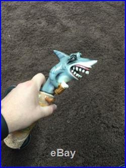Landshark Lager Island Style Shark Holding Beer Tap Handle Very Rare