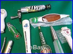 Large Lot of 22 Mostly New Beer Keg Tap Handle Marker Rare Saratoga Barber Pole