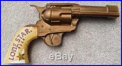 Lone Star Beer Figural Gun Tap Handle Colt 45 Pistol RARE Pub Bar Hammer Intact