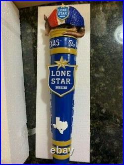 Lone Star Light Beer Armadillo Beer Tap Handle NIB Texas