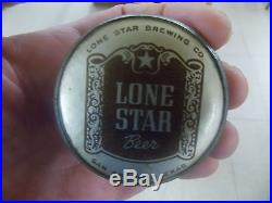 Lone star beer ball knob tap handle tap knob texas beer brown label san antonio