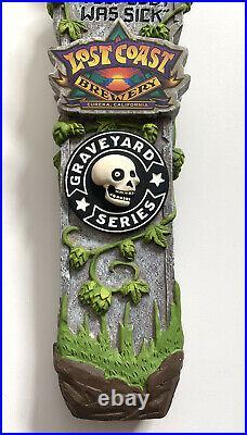 Lost Coast Brewery Graveyard Series Hazy IPA Beer Tap Handle Rare RIP Skull