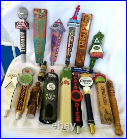 Lot Group Of 17 Beer Tap Handles -corona-red Hook-blue Point-magic Hat-& More