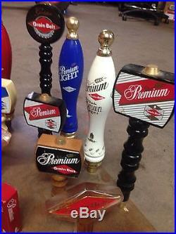 Lot Of 17 Grain Belt Beer Keg Tap Handles Vintage Old Rare Premium Free Ship