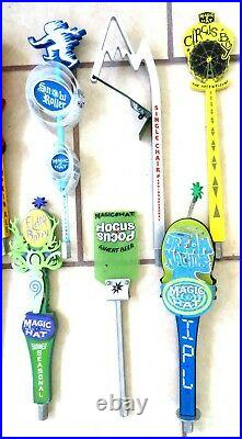 Lot Of 9 All Different Magic Hat Beer Tap Handles