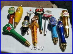 Lot of 11 Beer Tap Handles Keg Kegerator Handles India Dos Equis Sierra Nevada