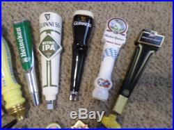 Lot of 14 Mostly New Beer Keg Tap Handle Harp Heineken Celtic Warrior Guinness