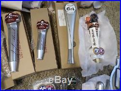 Lot of 18 Mostly New Beer Keg Tap Handle Hamm's Leinie Miller Dos Equis 1 Sign