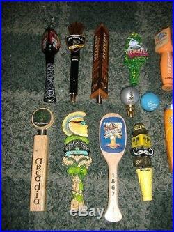 Lot of 20 beer tap handles-BELLS, DOGFISH HEAD, BLUE MOON, STONE, GOOSE++++