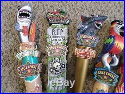 Lot of 6 Wow New Lost Coast Beer Keg Tap Handles Sharkinator Parrot Fogcutter